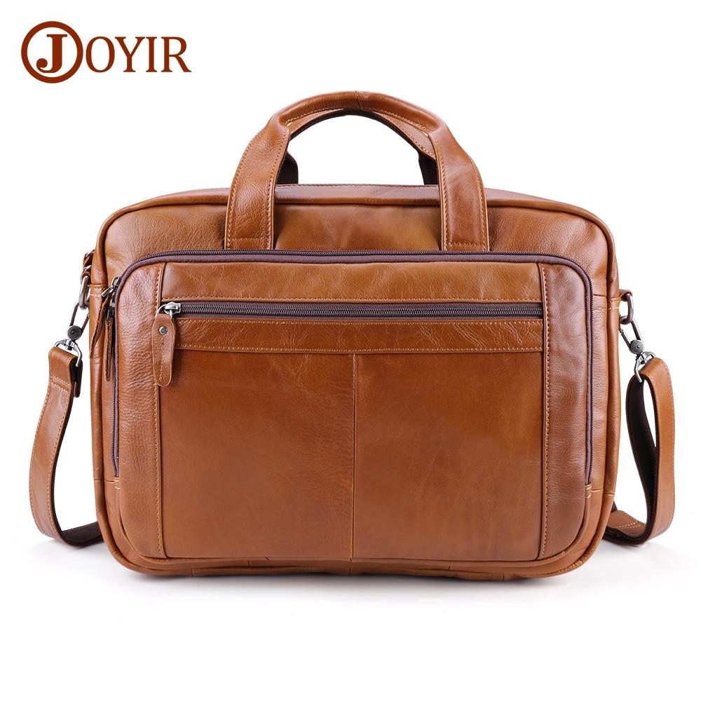 JOYIR Men's Briefcases Genuine Leather 17
