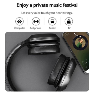 Image 5 - سماعات لينوفو HD300 الجديدة اللاسلكية Bluetooth5.0 قابلة للطي على الأذن سماعة الرياضة الموسيقى سماعة دعم TFCard مع ميكروفون