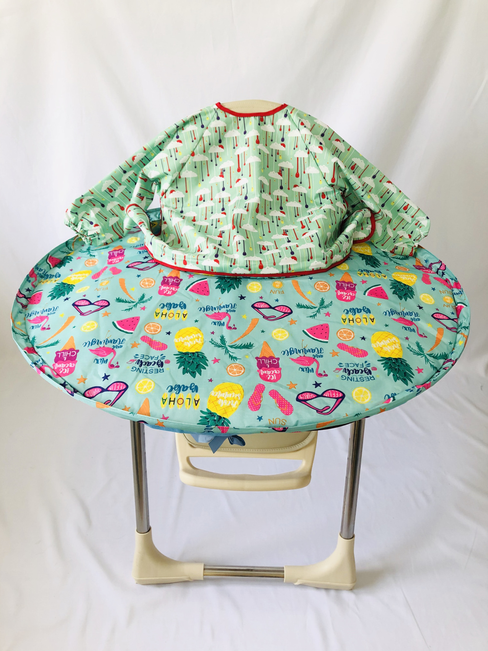 1 Set-Baby Dining Chair Saucer Manhattan High Chair Cover And Eating Gowns For Infant And Toddler Baby Tray