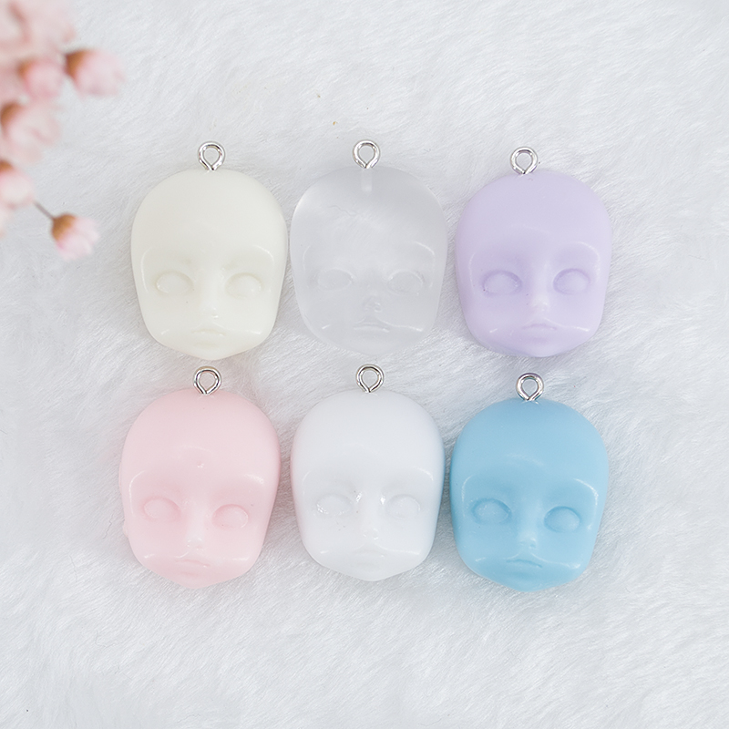10pcs 26*22mm Angel Face Baroque Style Flatback Baby Head Resin Cabochons DIY Jewelry Necklace Hair Accessories