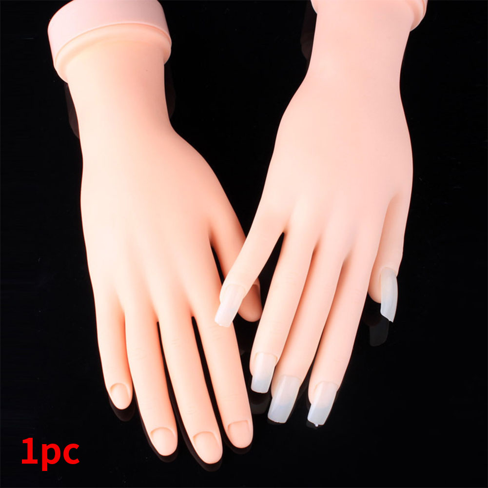 Simulation Fake Manicure Hand Model Bendable Finger Flexible Nail Art Practice Salon Beginners Professional Training Decorative