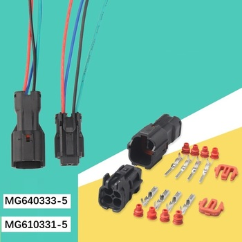 MG640333-5 MG610331-5Freeshipping 200sets DJ7041Y-2-11/21 4Pin AMP Car Electrical Wire Connectors for VW,BMW,Audi,Toyota,NISSAN