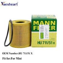 11427557012 HU711/51X 11427622446 Mann Filter Original Motor Öl Filte mit O-Ring Für Mini R55 R56 R57 r58 R59 R60 R61 1,6 L4
