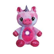 Animal relleno con proyector de luz en el vientre reconfortante de peluche de juguete | Juguete luz de la noche de peluche cachorro regalos de Navidad para los niños