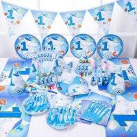 1Set/86PCS Frozen Party Supplies Map Supplies Disposable Tablecloth Kids Birthday Party Decoration