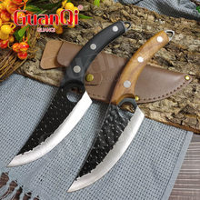 Handmade Forged Boning Knife Serbian Chef Knife Cleaver Slaughtering Meat Chopping Boning Knife Raw Fish Filleting Cooking Tools