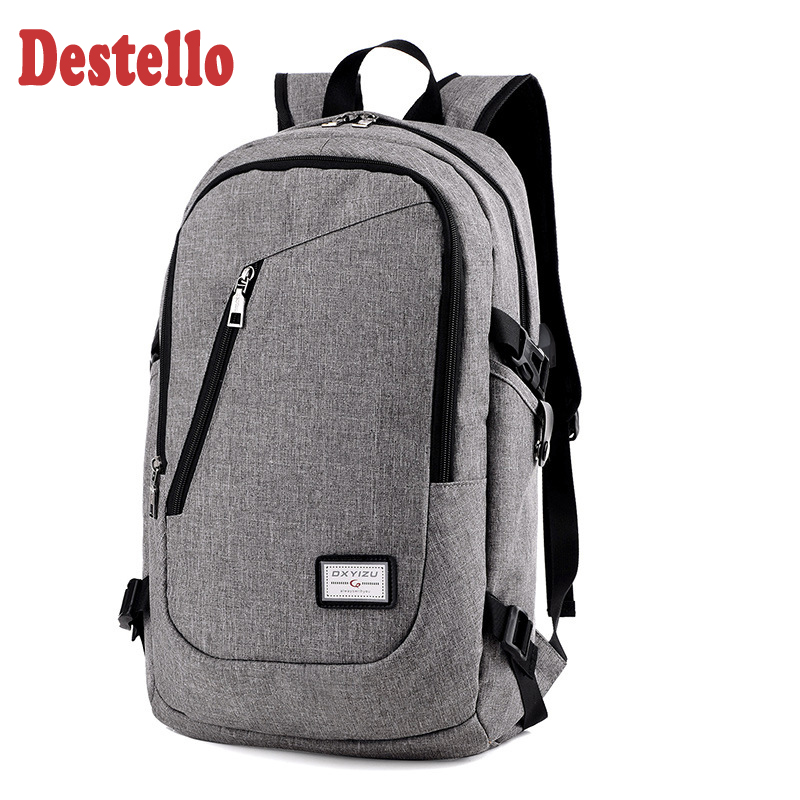 Fashion Man Laptop Backpack Usb Charging Computer Backpacks Casual Style Bags Large Male Business Travel Bag For Man