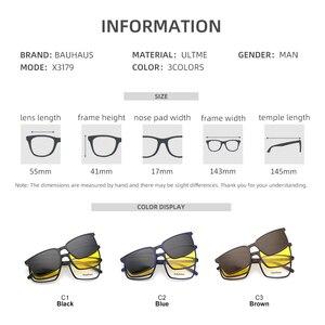 Image 2 - 2+1 lenes Magnet Sunglasses Clip Mirrored Clip on Sunglasses clip on glasses Men Polarized Custom Prescription Myopia x3179