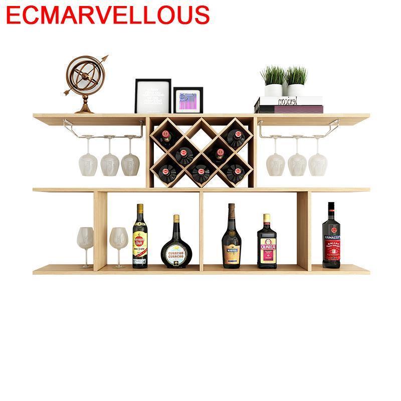 Adega vinho Rack Shelf Dolabi Display Living Room Mobilya Storage Kitchen Armoire Commercial Mueble Bar Furniture Wine Cabinet