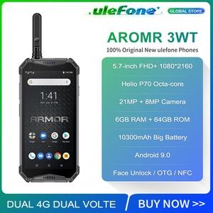 "Image 2 - Ulefone Armor 3WT Waterproof IP68 Smartphone 5.7"" Octa Core 6GB+64GB helio P70 Android 9 10300mAh Global Version Mobile Phone"