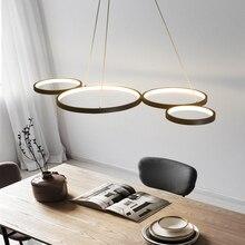 מט שחור/לבן צבע מודרני Led נברשת לסלון חדר אוכל בר מטבח חדר 110V 220V תליית נברשת עבור חנות
