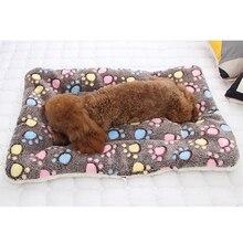 Мягкий фланелевый коврик для питомца, кровать для собаки, зимнее плотное теплое одеяло для кошки, собаки, щенка, спальный чехол, полотенце, подушка для маленьких, средних и больших собак