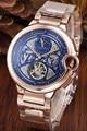 Reloj mecánico automático de lujo a estrenar GMT plata negro Rosa oro Día de la luna relojes Negro Azul turmil millones AAA +