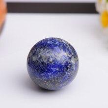 Natural lapis lazuli bola de cristal rocha mineral decoração para casa acessórios pedra artesanato decoração esfera lisa