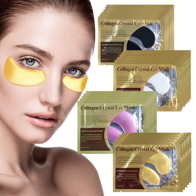 Collagen Crystal Gel Eye Patch Bags Remove Dark Circles Moisturizing Golden Patches Under Eye Mask Anti Aging Wrinkle Skin Care