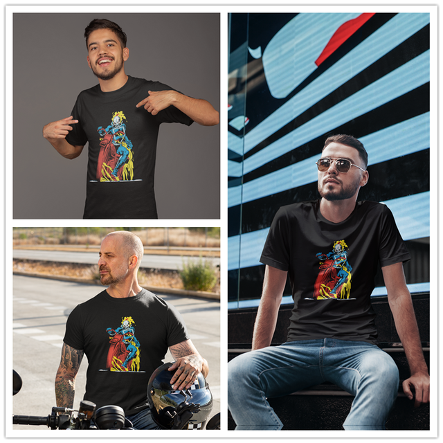 Ghost Rider T Shirt Classic Ghost Rider On Flaming Motorcycle T-Shirt Funny Short-Sleeve Tee Shirt Cotton Tshirt