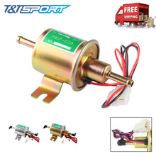 Топливный насос 12 В, Электрический бензиновый насос, болт низкого давления, крепежный провод, дизельный HEP-02A, металлический, золотой, серебряный, 8 мм, FP009