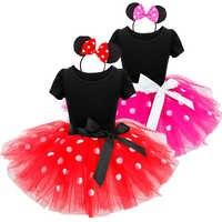 Fiesta de princesa para niña, vestuario ropa infantil de lunares, ropa de bebé, 1 año atuendos de cumpleaños, vestidos de tutú para niña