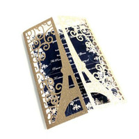 100pcs/set European Style Wedding Invitation Card Laser Cut Hollow Out Tower Marry Greeting Card Wedding Event Party Decorations