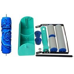 7 Cal dwukolorowe dekoracyjne maszyny tapety radełkowanie narzędzie do malowania tapety pędzel Rose drukowanie rolki zestaw narzędzi DIY