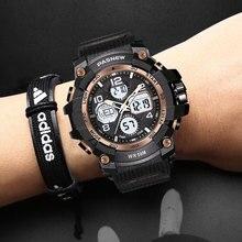 PASNEW new sports electronic watch multifunctional watch waterproof watch