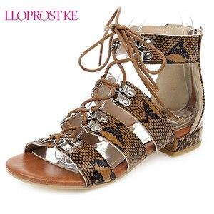Женские сандалии-гладиаторы Lloprost ke, разноцветные сандалии с открытым носком, на шнуровке, на массивном каблуке, новинка 2020