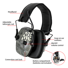 Electronic hearing protection protective earmuffs outdoor sports noise reduction foldable ear protectors shooting earmuffs 1436 foldable noise noise reduction ear protection earmuffs sleep study mute the headphones sound industrial plants