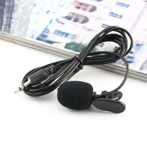 Portable External 3.5mm Hands-Free Mini Wired Collar Clip Lapel Lavalier Microphone For