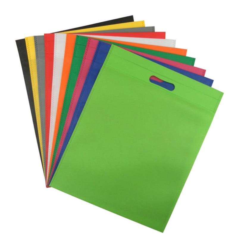 Vogvigo Environmental Storage Bag Handbag Foldable Shopping Bags Reusable Folding Grocery Nylon Tote Bag Solid Color