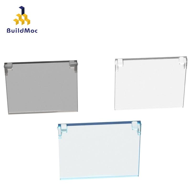 BuildMOC Compatible Assembles Particles 60603 Openable Glass 1x4x3 Building Blocks Parts DIY Educational Gift Toys