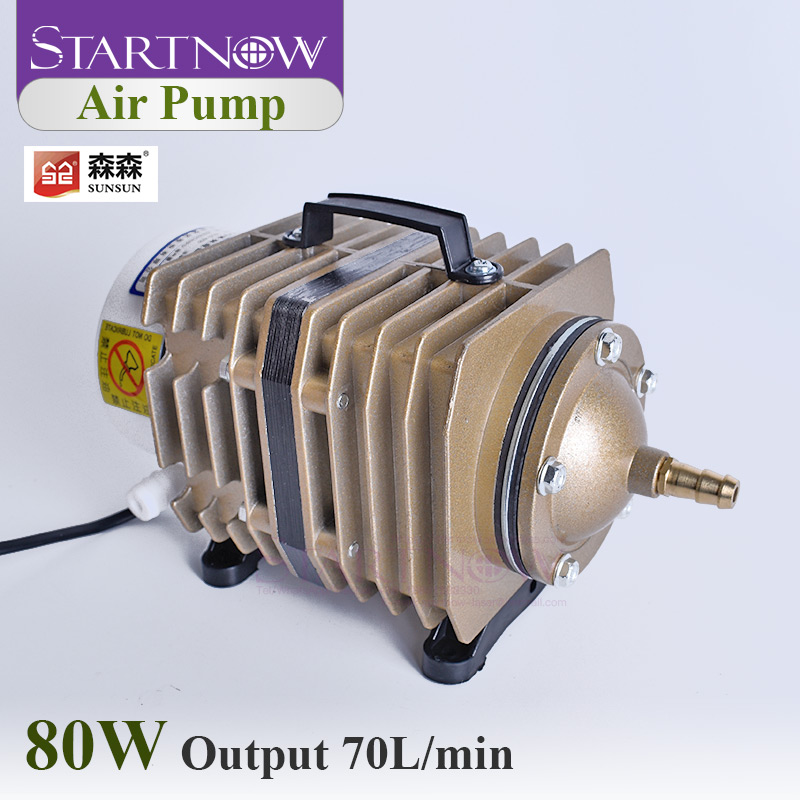 Electromagnetic Air Compressor 70L/Min ACO-005 SUNSUN Air Pump 80W With Check Valve Air Stone Water Pipe For Fish Farming