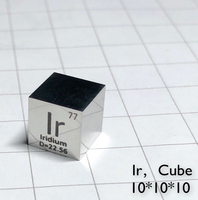 10mm Mirror Polished Metal Iridium Cube Periodic Table Of Elements Cube Ir 9995 Double Sided Engraved Y