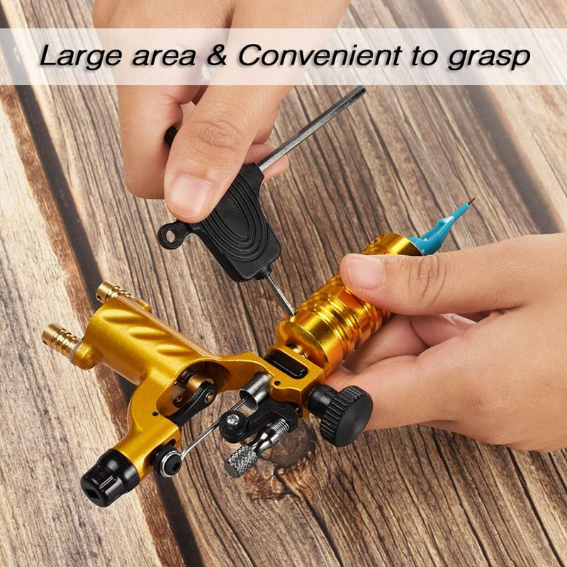 Tattoo Machine Set Gold Not Completed Tattoo Kit Professional Rotary Needle Elastic Self Adhesive Grip in Tattoo Tips from Beauty Health