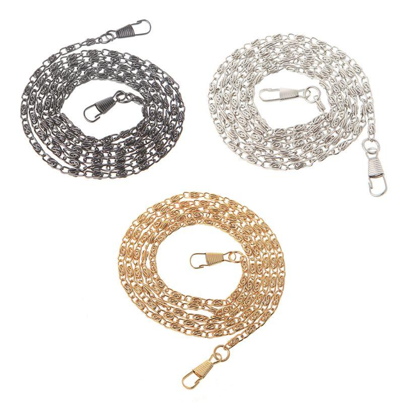 1 Pc Metal Purse Chain Strap Handle Shoulder Crossbody Bag Handbag Replacement DIY Bag Accessories 3 Colors