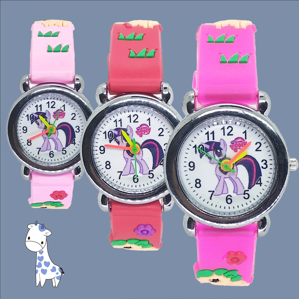 Cute Pony Boys Watch Child Leather Watches Little Yellow Man Watch Children Wristwatches Girl Watches For Kids Gift Clock #D017