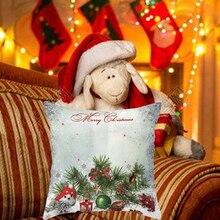 Christmas Cushion Cover Merry Christmas Printed Decorative Pillows Sofa Home Decoration Pillowcase snowman Case Cover free shipping new home decoration anime characters coreless sofa pillowcase cushion 45cm coreless