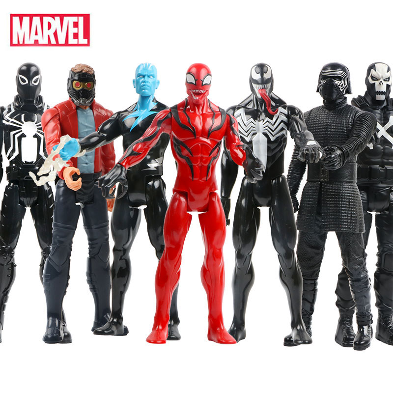 30cm Marvel Avengers The Amazing Venom Spider Man Star-Lord PVC Action Figures Superhero Collectible Model Toys Dolls For Kid