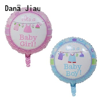 18inch pink baby boy baby girl clothes helium balloon BABY SHOWER decoration happy birthday balloon Gender Reveal ball wholesale image