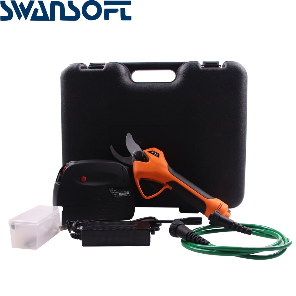Tools : SWANSOFT 35mm Electric Scissors Branches Pruning Shears Rechargeable Garden Cutter Tool