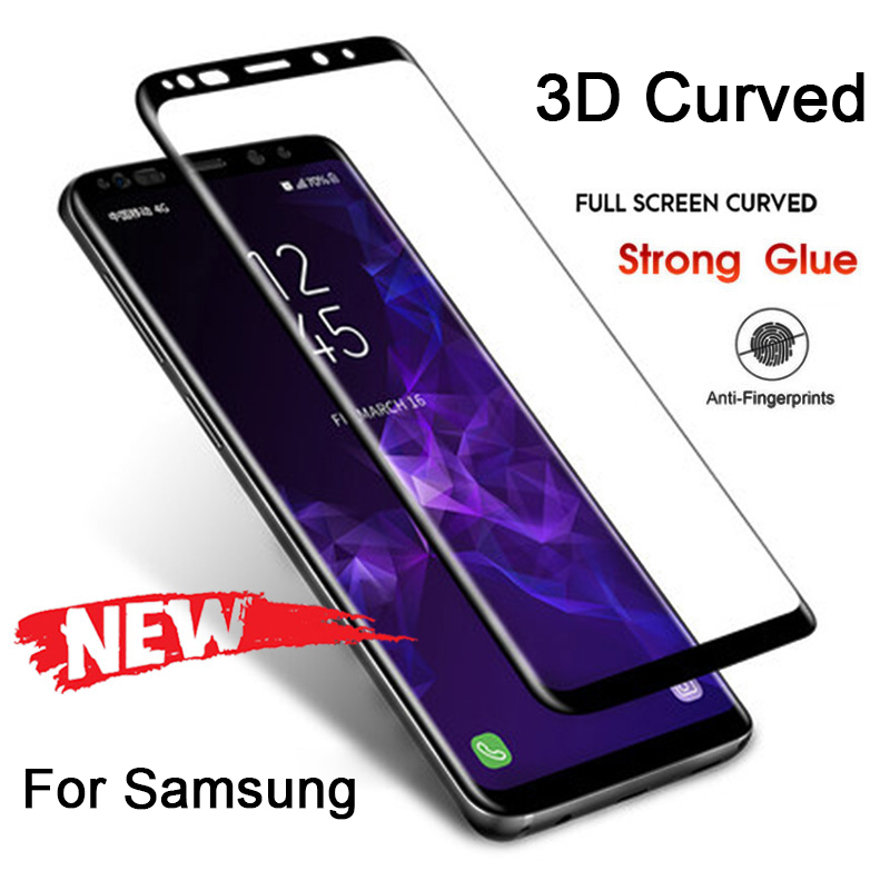 3D Hard Phone Screen Protective Film Glass For Samsung S10 9H HD Toughed Tempered Glass For Samsung Galaxy S8 S9 Plus Note 8 9