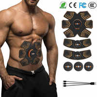 Bauch Muskel Stimulator EMS Elektrostimulation Toning Gürtel Abs Trainer Toner Workout Home Fitness Training Ausrüstung