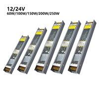 Fuente de alimentación regulable, transformador CRS, 12V, 24V, aluminio, 60W-250W, Controlador LED de voltaje constante de CC, 0-10V, Traic 220V-12 SCR/24V