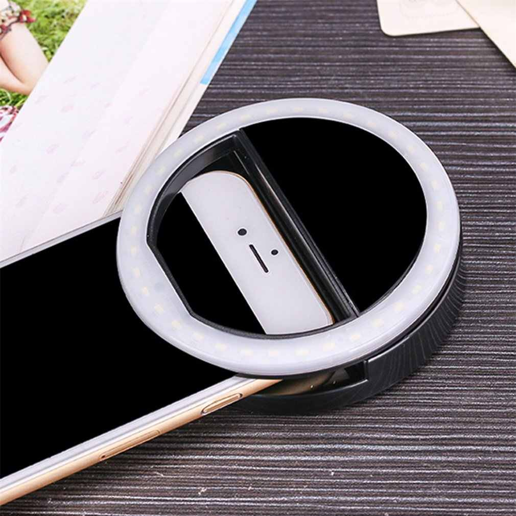 2019 nuevo Selfie LED anillo Flash Luz Portátil teléfono móvil 36 LEDS lámpara Selfie anillo luminoso Clip para iPhone 6 Plus 8 7 Samsung