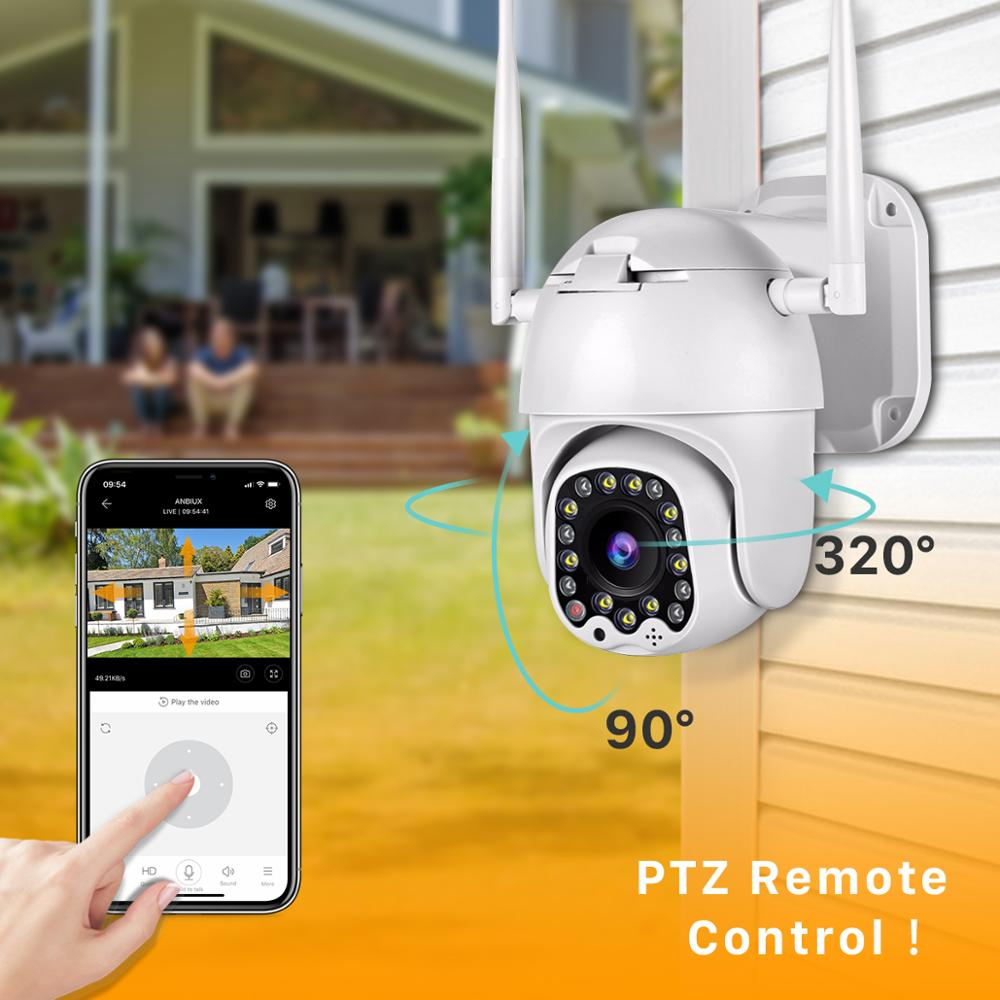 BESDER Outdoor Motion Alert 2MP IP Camera WiFi 4X Digital Zoom Dual Antenna Speed Dome Camera With Siren Light Cloud Storage-in Surveillance Cameras from Security & Protection