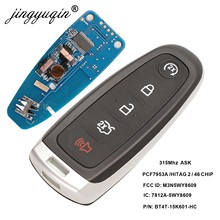 Jingyuqin inteligente remoto chave fob m3n5wy8609 315mhz id46 para ford edge escape explorar expedição flex foco carro taurus keyless