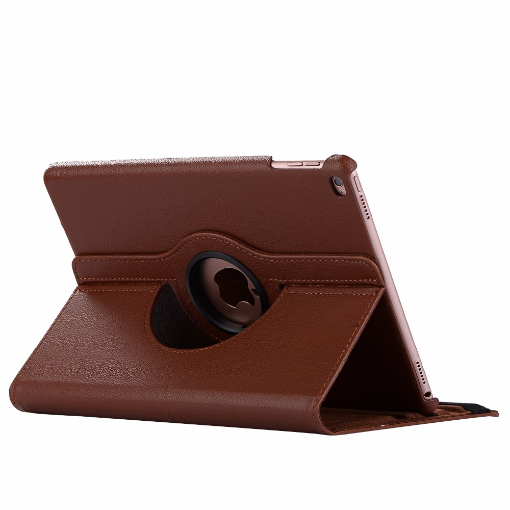 brown Brown 360 Degree Rotating PU Leather Flip Cover Case For iPad 10 2 2020 2019 8th 7th
