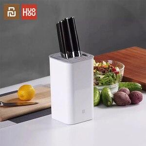 Image 1 - Xiaomi Huohou uchwyt na nóż kuchenny wielofunkcyjny stojak do przechowywania uchwyt na narzędzia nóż blok stojak akcesoria kuchenne oryginalne
