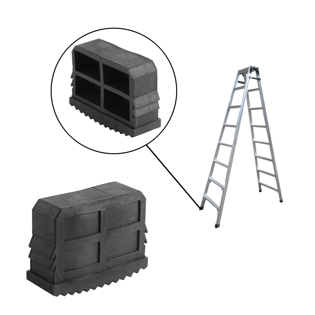 2pcs Replacement Slip Proof Step Ladder Feet Pad Quality Black Rubber Folding Double Ladder Foot Grip Cover Tool Accessories