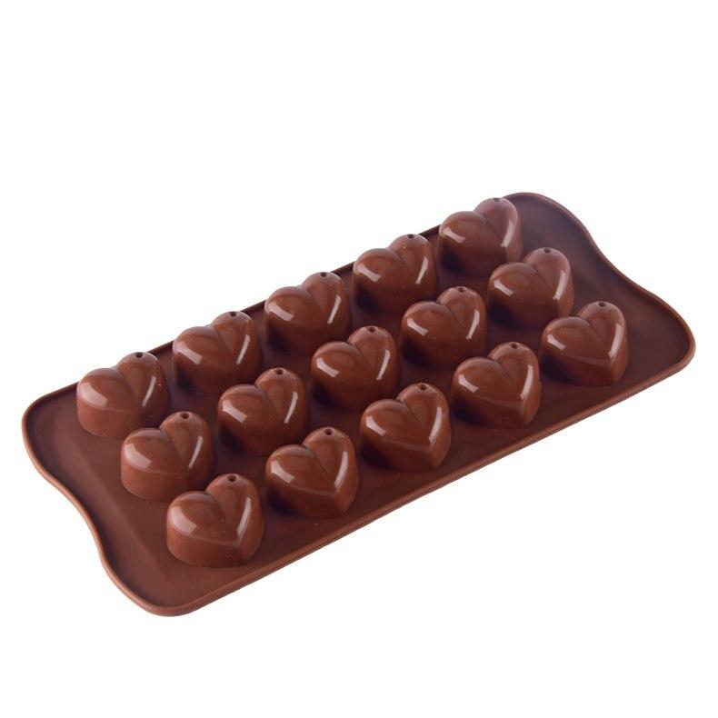Silikon DIY 3D Herz Form Form Kuchen Dekorieren Herz Form Mould Ice Cube Schokolade Seife Gelee Tablett Küche Backen Werkzeug