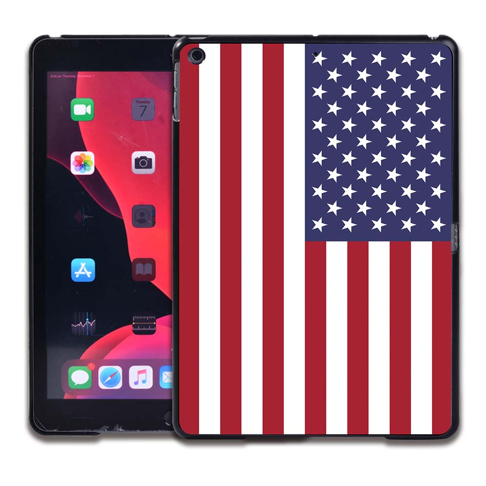1.American flag Red Tablet Hard Back for Apple IPad 8 2020 8th Gen 10 2 A2270 A2428 Z2429 Z2430